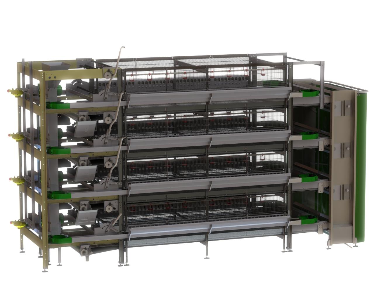 FIT Farm Innovation Team Golden Pullet Prime cage system WEB
